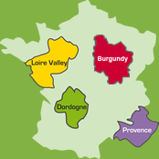 Cycle tours in Dordogne, Loire Valley, Provence, France